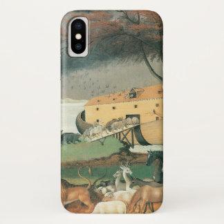 Funda Para iPhone X Arte popular del vintage, la arca de Noah por los