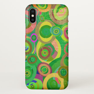 Funda Para iPhone X arte verde abstracto