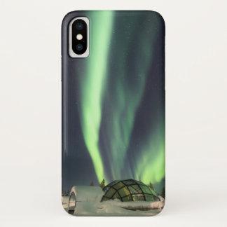 Funda Para iPhone X Aurora boreal del iglú