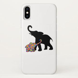 Funda Para iPhone X Ayuda de la conciencia del autismo del elefante