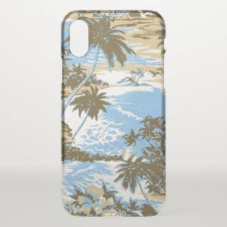 Funda Para iPhone X Azul de cielo escénico de la isla hawaiana de la