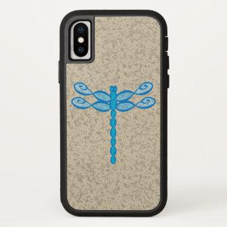 Funda Para iPhone X Azul de la libélula del infinito