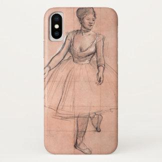 Funda Para iPhone X Bailarín de ballet (estudio) por Edgar Degas, arte