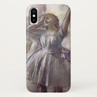 Funda Para iPhone X Bailarín que estira por Edgar Degas, ballet del
