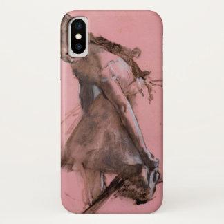 Funda Para iPhone X Bailarín que se desliza en su zapato de Edgar