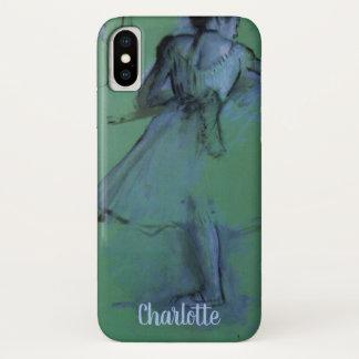 Funda Para iPhone X Bailarines en la barra de Edgar Degas, arte del