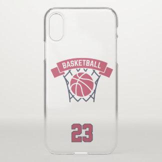 Funda Para iPhone X Baloncesto. Número de encargo del jugador