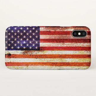Funda Para iPhone X Bandera americana antigua