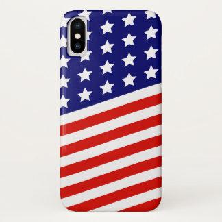 Funda Para iPhone X Bandera americana de las barras y estrellas