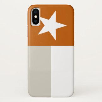 Funda Para iPhone X Bandera anaranjada de Tejas