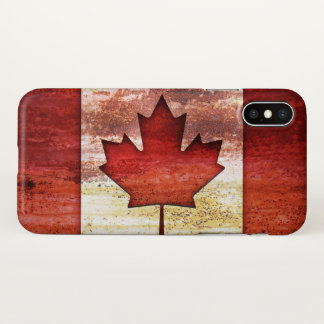 Funda Para iPhone X Bandera antigua de Canadá
