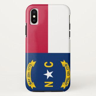 Funda Para iPhone X Bandera de Carolina del Norte