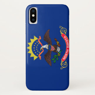 Funda Para iPhone X Bandera de Dakota del Norte