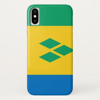 Funda Para iPhone X Bandera de San Vicente y las Granadinas