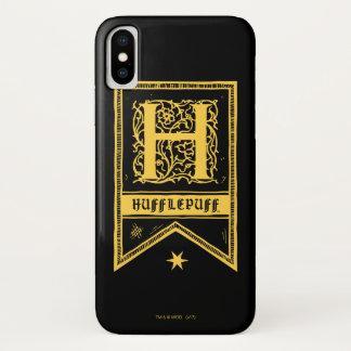 Funda Para iPhone X Bandera del monograma de Harry Potter el |