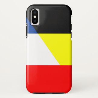 Funda Para iPhone X bandera del símbolo del país de la bandera de