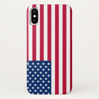 Funda Para iPhone X Bandera los E.E.U.U. americanos de América