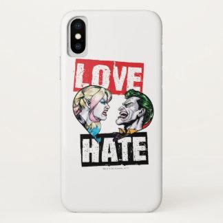 Funda Para iPhone X Batman el | Harley Quinn y amor del comodín/odio