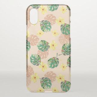 Funda Para iPhone X Beautiful tropical floral design.