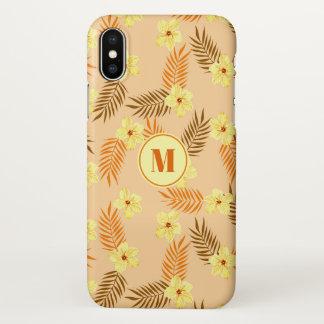 Funda Para iPhone X Beautiful yellow and orange floral design.