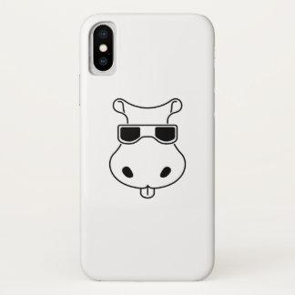 Funda Para iPhone X Bebé de Fiona de los hipopótamos del amor de las