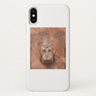Funda Para iPhone X Bebé divertido de Loverss Fiona del Hippopotamus
