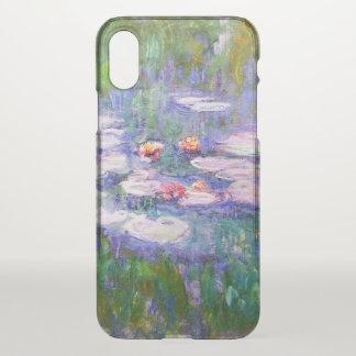Funda Para iPhone X Bella arte de Claude Monet de los lirios de agua