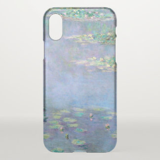 Funda Para iPhone X Bella arte de Monet de los lirios de agua de Les