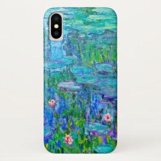 Funda Para iPhone X Bella arte fresca de Monet de la charca del lirio