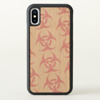 Funda Para iPhone X Biohazard rosado
