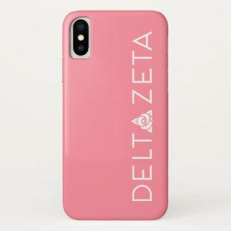 Funda Para iPhone X Blanco primario del logotipo de la zeta del delta