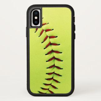 Funda Para iPhone X Bola amarilla del softball