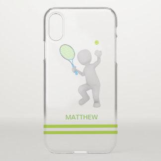Funda Para iPhone X bola de la estafa de tenis del jugador de tenis 3D