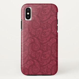 Funda Para iPhone X Borgoña Paisley