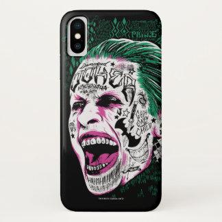 Funda Para iPhone X Bosquejo de risa de la cabeza del comodín del