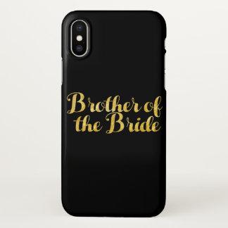 Funda Para iPhone X Brother del oro de la novia