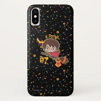 Funda Para iPhone X Buscador de Harry Potter Quidditch del dibujo