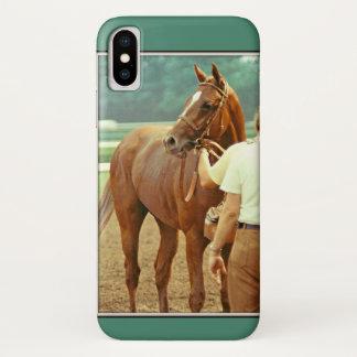 Funda Para iPhone X Caballo de carreras excelente afirmado 1978
