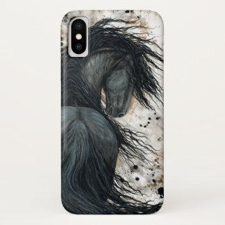 Funda Para iPhone X Caballo frisio de DreamWalker por Bihrle