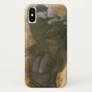 Funda Para iPhone X Caballo y jinete de Edgar Degas, arte del estudio