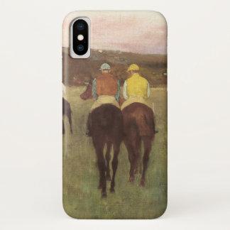 Funda Para iPhone X Caballos de carreras en Longchamp de Edgar Degas