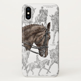 Funda Para iPhone X Caballos recogidos FEI del Dressage