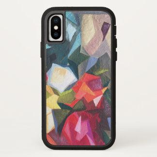 Funda Para iPhone X Caja abstracta floral brillante 2 del teléfono