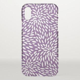 Funda Para iPhone X Caja abstracta púrpura del modelo