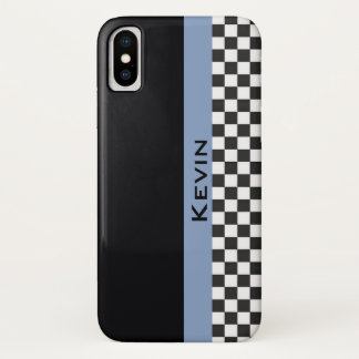 Funda Para iPhone X Caja azul del iPhone X del diseño de la raya que