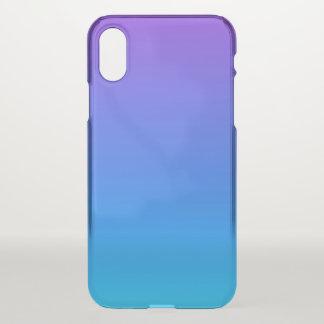 Funda Para iPhone X Caja azul y púrpura del iPhone X Clearly™ de Ombre