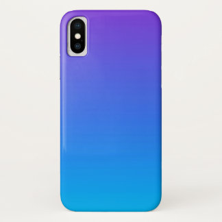 Funda Para iPhone X Caja azul y púrpura del teléfono del iPhone X de