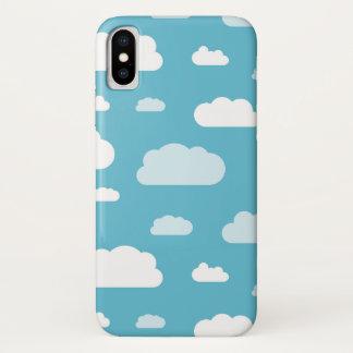 Funda Para iPhone X Caja blanca del teléfono de las nubes del cielo