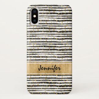 Funda Para iPhone X Caja blanca negra del iPhone X de Barely There de