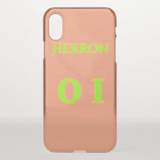 Funda Para iPhone X Caja clara del teléfono de Zach Herron
